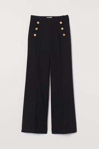 Button Wide Pants