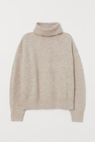 Oatmeal Turtleneck