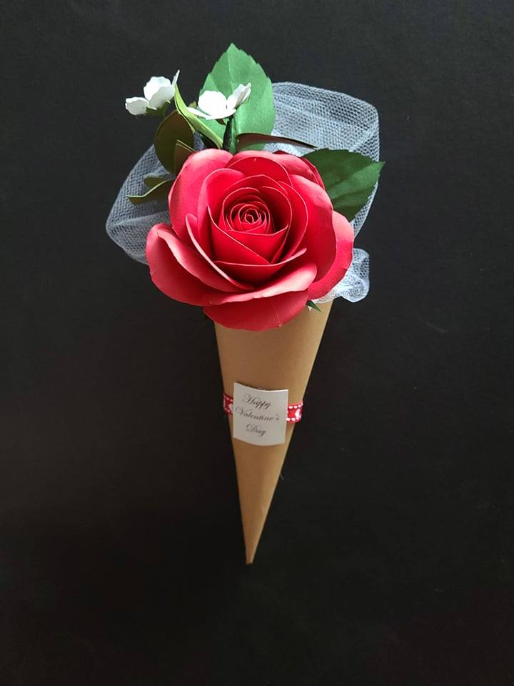 ADD ON Hand Crafted Paper Rose