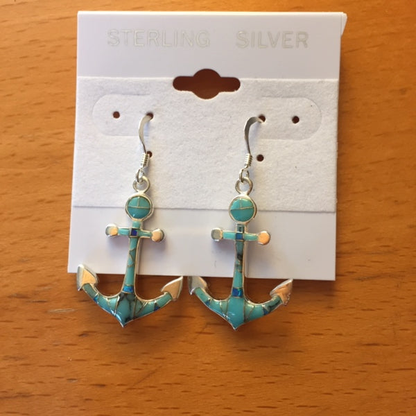 ANCHOR EARRINGS TURQUOISE