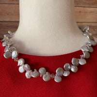 SILVER KESHI FRESHWATER PEARL NECKLACE