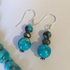 Aqua Impression Jasper Earrings