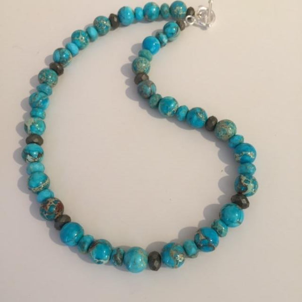 AQUA IMPRESSION JASPER NECKLACE