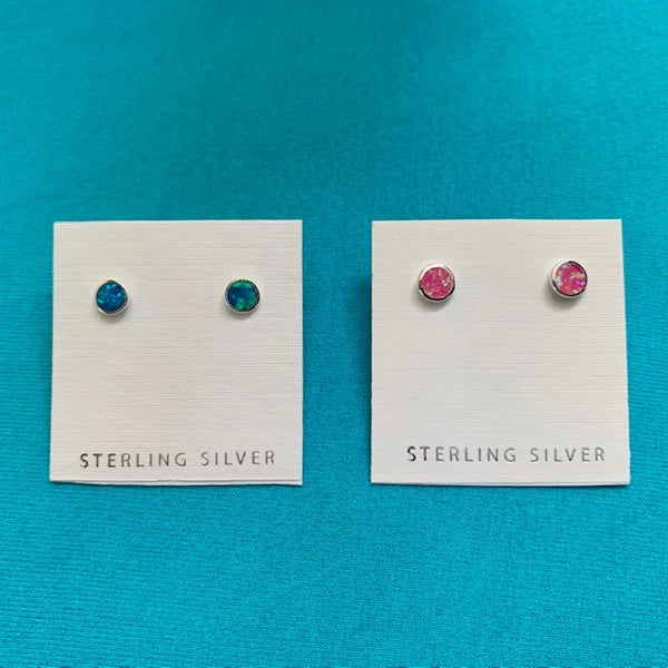 OPAL COLOR DOT EARRING