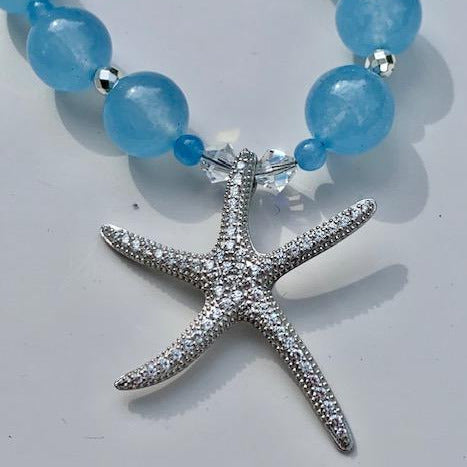 SEA BLUE CHALCEDONY STAR