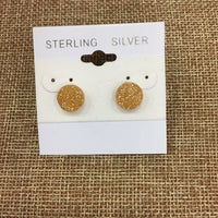 DRUZY QUARTZ STUD EARRINGS