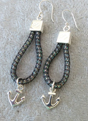 ANCHOR DANGLE EARRINGS
