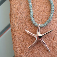 STARFISH ON SILVERSILK AQUA