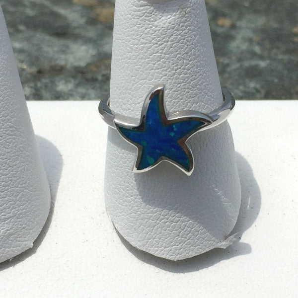 OPAL STARFISH RING