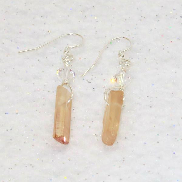 BLONDE QUARTZ EARRINGS