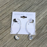 ROUND CZ DANGLE EARRINGS