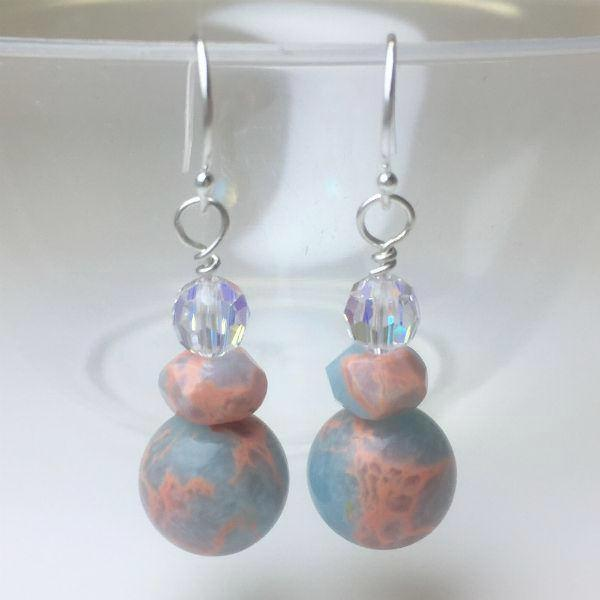 IMPRESSION JASPER EARRINGS