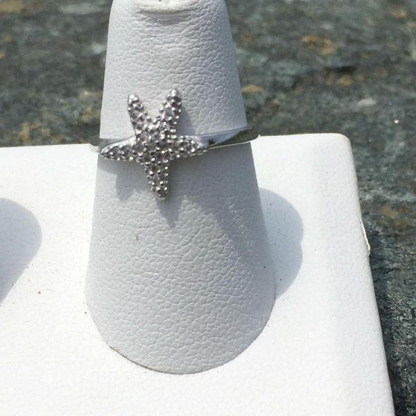 PAVE STARFISH RING