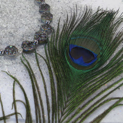 PEACOCK DRUZY QUARTZ NECKLACE