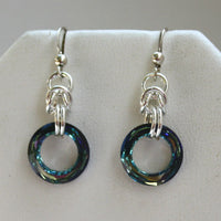 SWAROVSKI LIFE RING EARRINGS