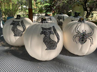 DECORATIVE HALLOWEEN SPIDER PUMPKIN