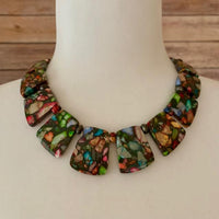 MIXED IMPRESSION JASPER COLLAR