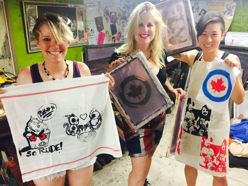 Welcome to Peach Berserk - Fabric/Fashion Design - Silkscreen Workshops and Art Events.