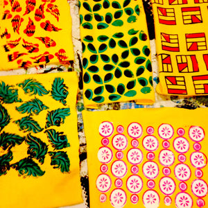 In School Fabric Design/Silkscreen Workshops featuring Upcycling and Sustainability for Students