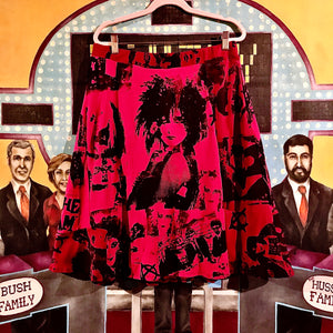 Funky New Wave Babes.. featuring Siouxsie Sioux Collage Screen Print A-Line Skirt... with Pockets <3