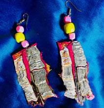 Party Mix Passion Upcycled Earrings !