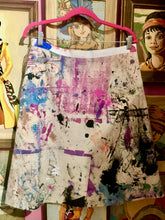 "Upcycled Peach Berserk Drop Cloth Crazy Skirt  ""Abstract Art"""