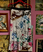 "Upcycled Peach Berserk Drop Cloth Crazy Skirt ""Glamour Gals Groovin'"""
