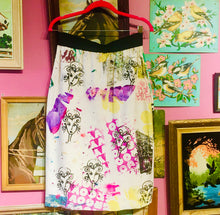 "Upcycled Peach Berserk Drop Cloth Crazy Skirt- ""Gals be Groovin' """