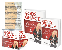 Load image into Gallery viewer, God's Grace Fuels My Passion Book, Workbook, 8 Hour CD set, and Book Mark - Maureenanderson