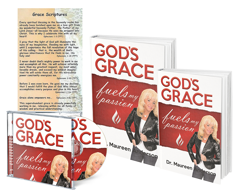 God's Grace Fuels My Passion Book, Workbook, 8 Hour CD set, and Book Mark - Maureenanderson