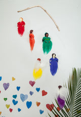WOOL RAINBOW FAIRIES MOBILE
