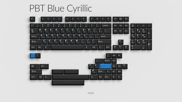 PBT Blue Cyrillic Group Buy - Oct 16-30