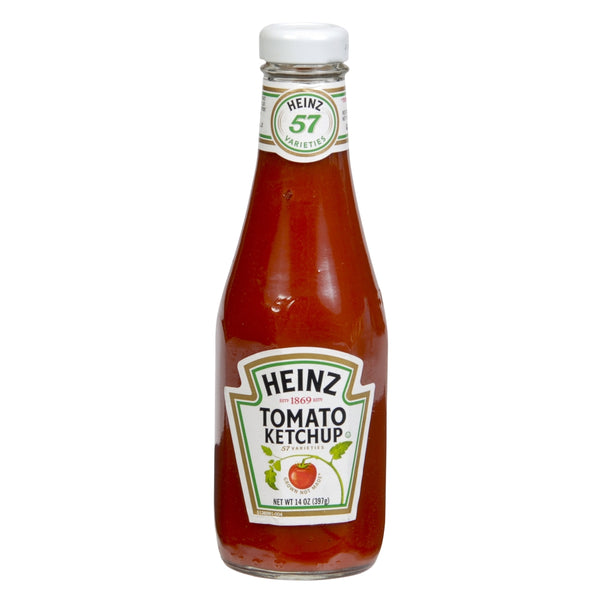 Ketchup, Heinz, Glass Bottles, 14 Oz Bottle, 1 Count
