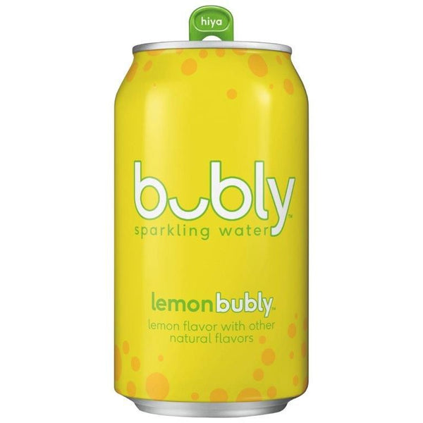 Free Bubly Sparkling Water,  Lemon Flavor, 12 fl oz Cans, 8 Pack - Limited 1 Per Customer