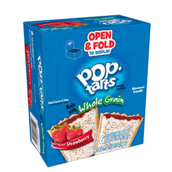 Kellogg's Pop-Tarts Pop-Tart Strawberry Pastry, Whole Grain, 1 Individually Wrapped, 10 Count Box