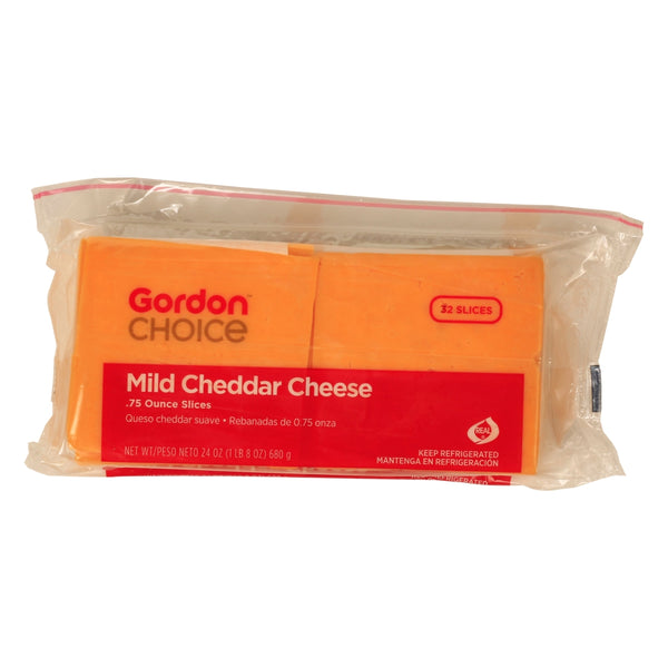 Mild Cheddar Cheese, Sliced, with Interleaf Paper, 1.5 Lb Loaf