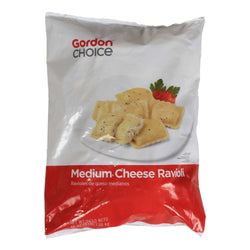 Medium Cheese Square Ravioli Pasta, Gordon Choice Cooked, Frozen, 3 Lb Bag,