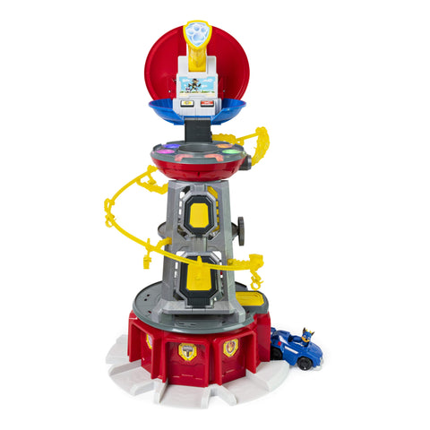 Paw Patrol, Mighty Pups Super Paws Lookout Tower Playset with Lights & Sounds, for Ages 3 & Up, Multicolor