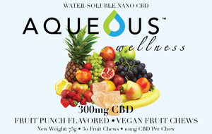 Aqueous Fruit Chew Gummies - Fruit Punch