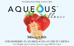 Aqueous Fruit Chew Gummies - Strawberry