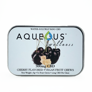 Aqueous Fruit Chew Gummies - Cherry