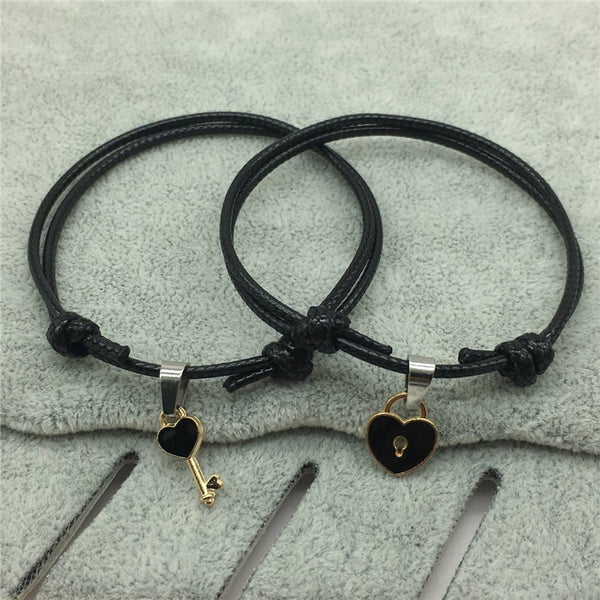 Couple Bracelet Alloy key Heart Lock - Beautifyl Trinkets