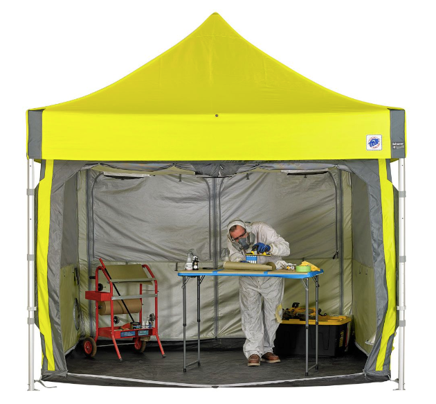 Corona Virus - COVID-19 - Portable Emergency Response Shelter, Tent, Flag solutions - EMERGENCY MEDICAL CONTAINMENT CUBE (EMC100)