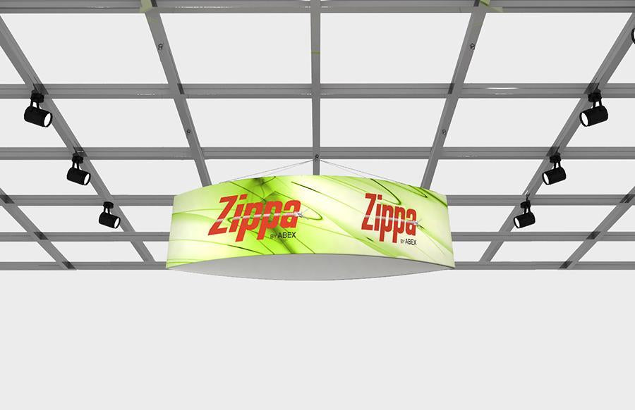 "Zippa Football 10' x 36"" Fabric Hanging Sign"