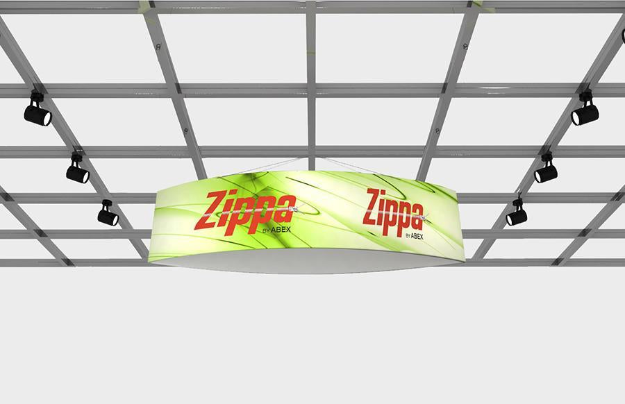 "Zippa Football 12' x 36"" Fabric Hanging Sign"