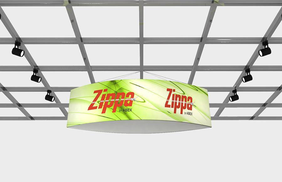 "Zippa Football 12' x 48"" Fabric Hanging Sign"