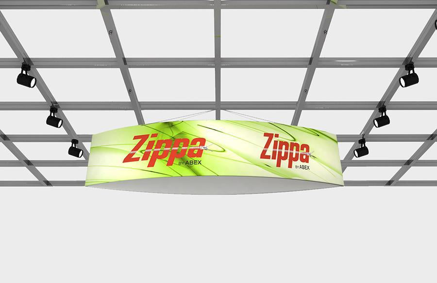 "Zippa Football 14' x 36"" Fabric Hanging Sign"