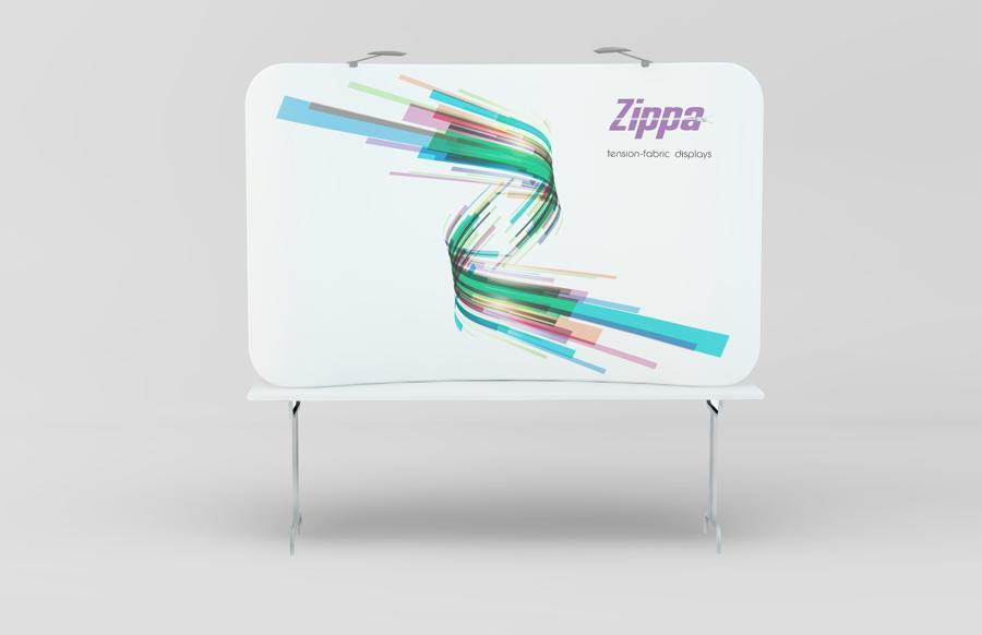Zippa 8ft Tabletop Tension Fabric Display
