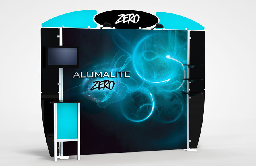 10 Foot Alumalite Zero Hybrid Trade Show Exhibit Booth Display AZ2