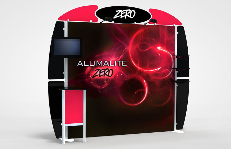 10 Foot Alumalite Zero Hybrid Trade Show Exhibit Booth Display AZ3